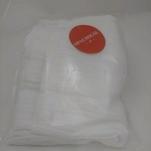 NEW Opalhouse  1 Sheer Curtain Panel Crushed White